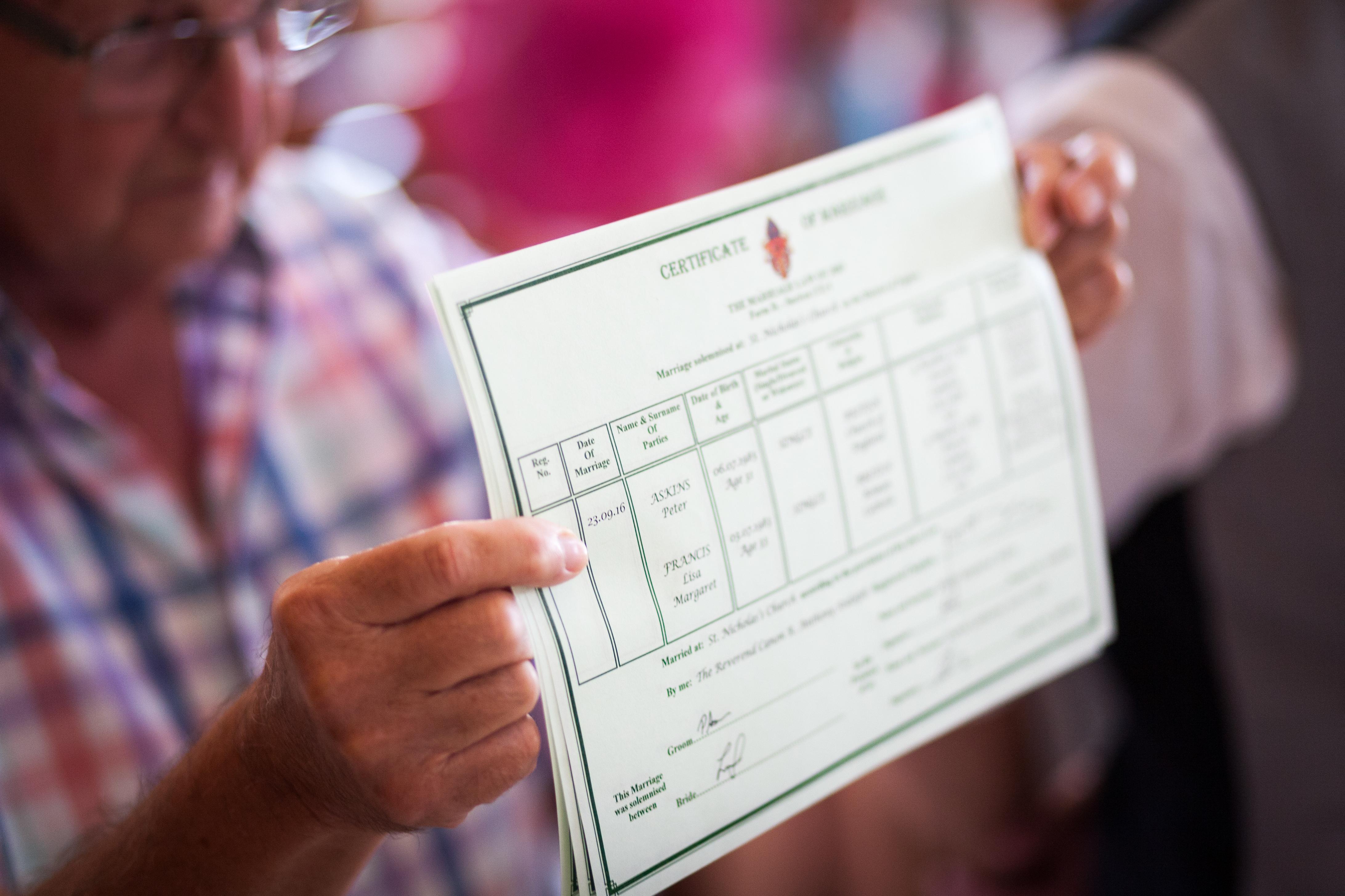 Cyprus wedding paperwork package