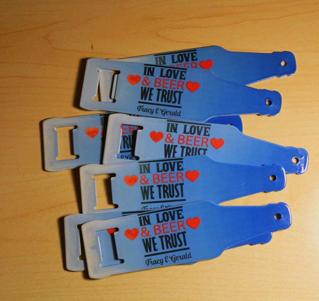 Metal bottle openers