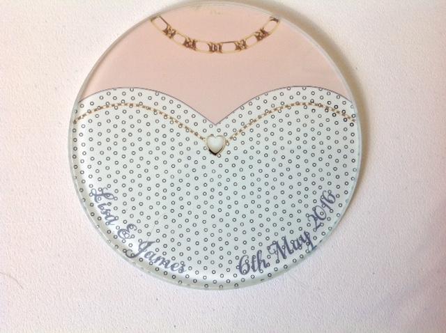 Wedding Dress Glass Coaster for the girls