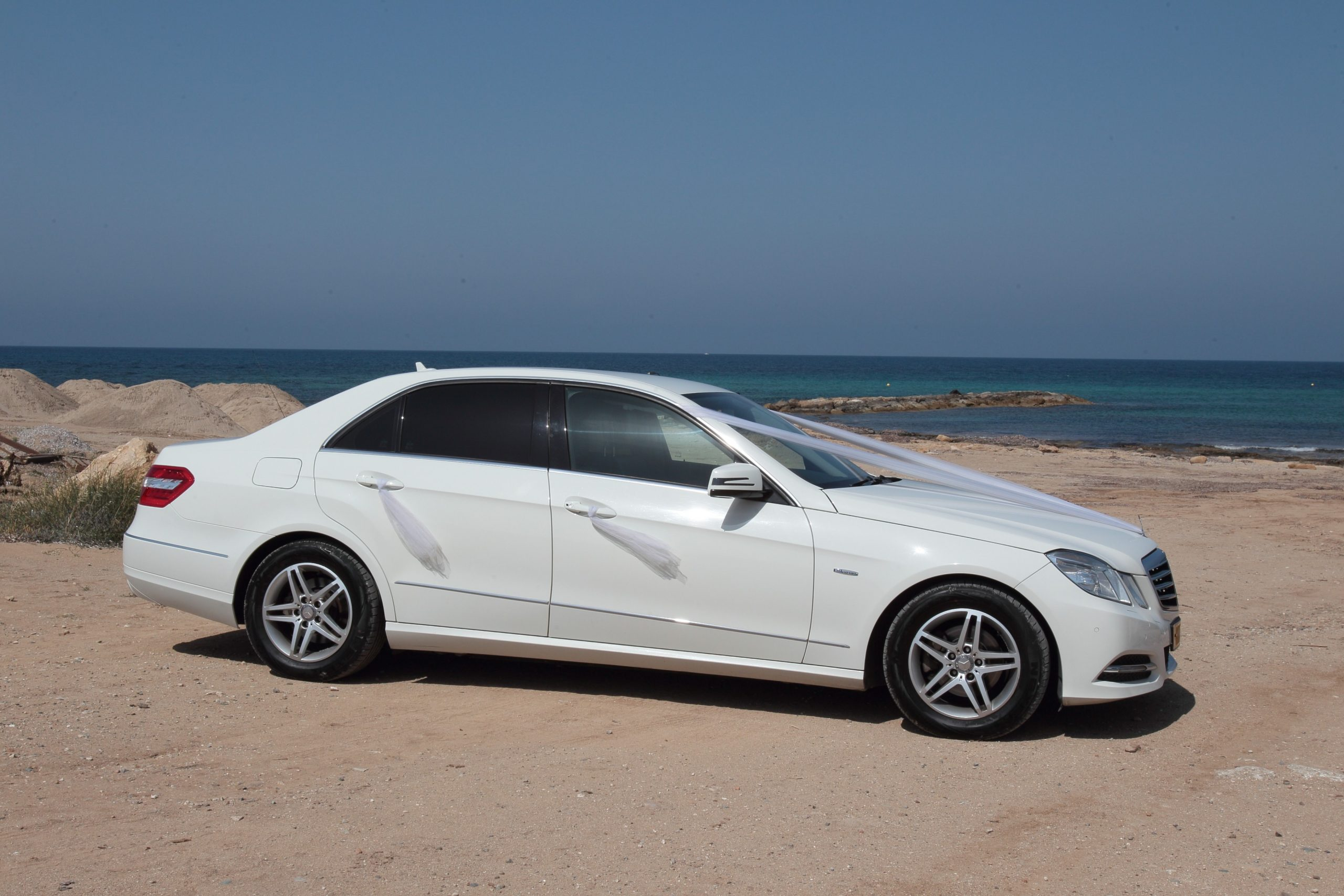 white Decorated Mercedes