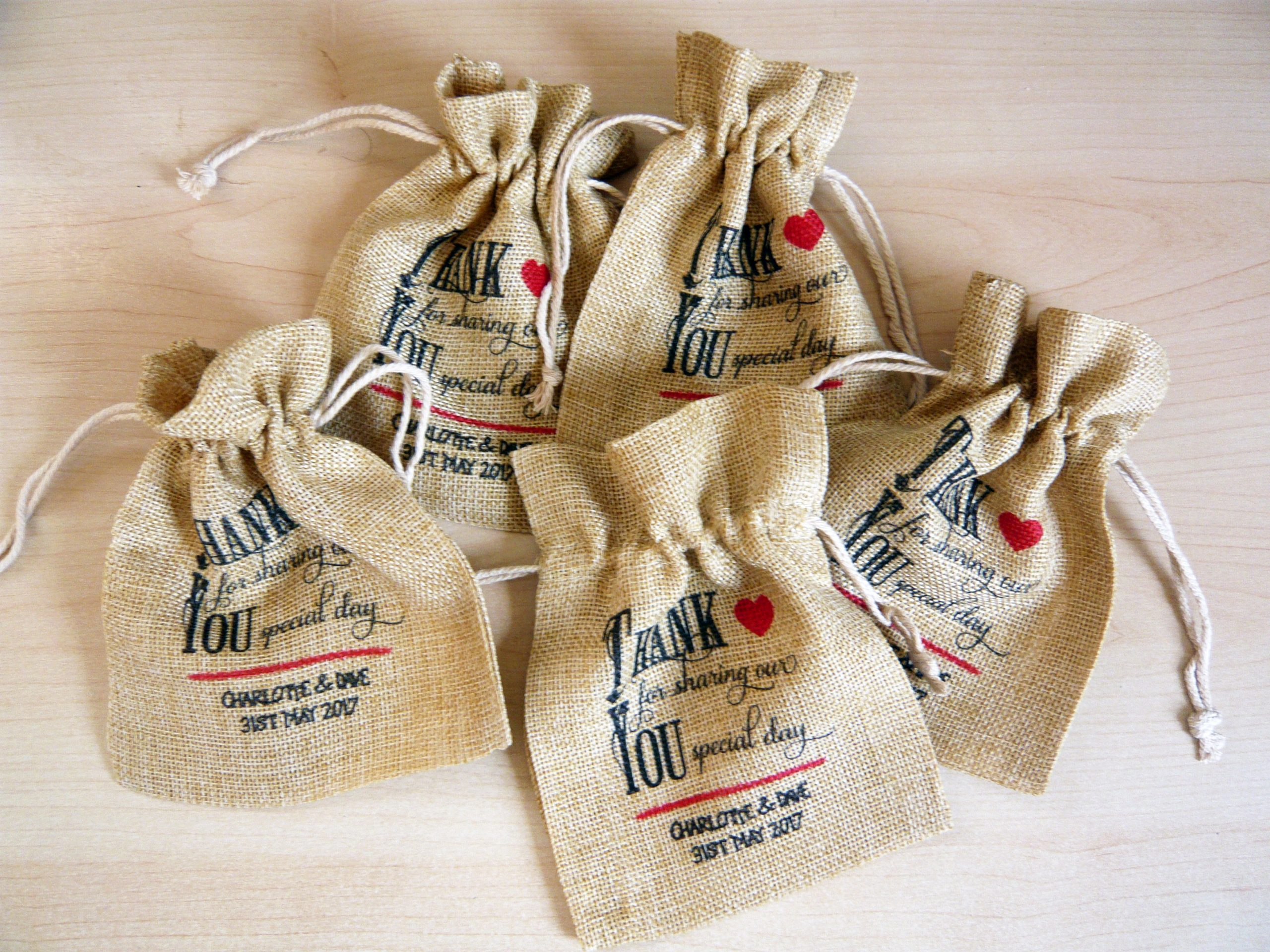 Favour Bags - Hessian