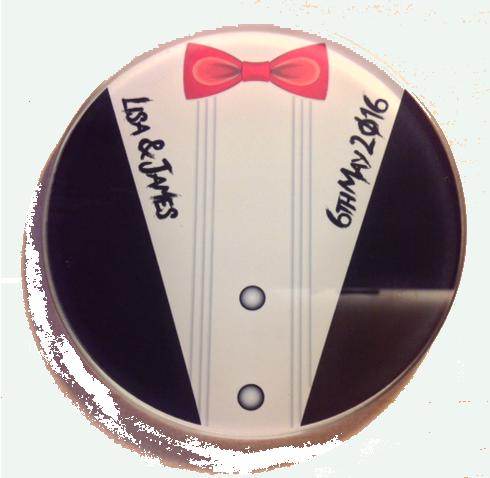 Tuxedo Glass Coaster for the guys